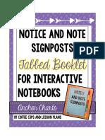 NoticeandNoteSignpostTabbedBookletFictionalInteractiveNotebooks