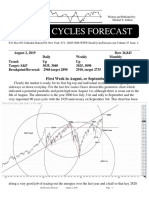 Stock cycles forecast newsletter 2019