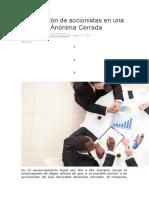 La exclusión de accionistas en una Sociedad Anónima Cerrada.docx