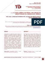 A linguagem jurídica em prisma
