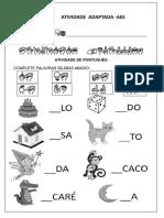 ATIVIDADES EM LIBRAS