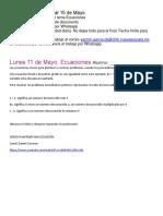 Matemáticas 1. 11 al 15 de Mayo