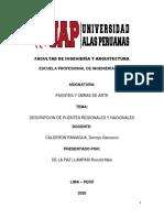 PRIMER TRABAJO DE PUENTES Y OBRAS DE ARTE