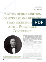 History of recognition of Azerbaijan's de facto state independence at the PPC