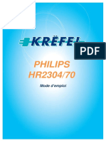 PHILIPS HR2304_70. Mode d emploi