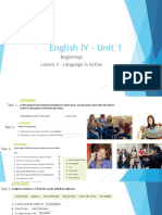 Unit 1 - lesson 3 and language in action