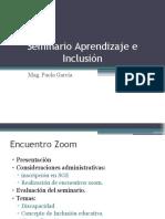 Encuentro ZOOM-Seminario Aprendizaje e Inclusión
