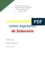Informe de la identidad nacional