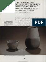 Las ofrendas en los Andes Septentriolanes. Langebaek