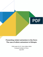Ethnic extremism in Ethiopia - policy paper July 2019