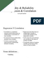 Regression  Correlation Gernal