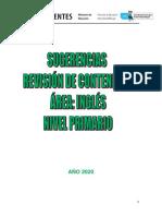 INGLÉS - Nivel Primario - Sugerencias Revisión -08 Al 15 Abril