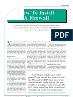 How to Install Firewall