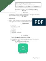 Práctica transmisión y recepción señal con aplicativo móvil Blynk y Bluetooth