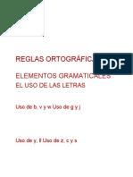 Principales reglas ortográficas