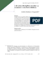Arlette Gasparello a construcao de uma disciplina escolar professores autores