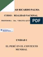 Unidad I El Perú en el Contexto Mundial  - REALIDAD NACIONAL URP