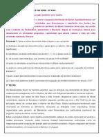 ROTEIRO DE ATIVIDADES DE HISTORIA
