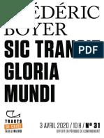 9782072910890 - Pierre Boyer - Sic transit gloria mundi