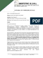 CARTA NOTARIAL  DE COMPROMISO DE PAGO - GLADYS