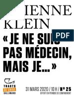 """9782072911019 - Etienne Klein - """"Je ne suis pas médecin mais je..."""""""