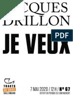 9782072913433 - Jacques Drillon - Je veux