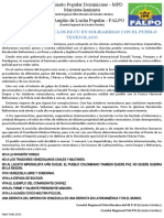Declaración de solidaridad con Venezuela desde Estados Unidos