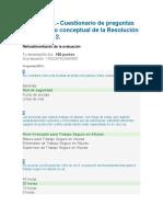 Evidencia 1.- Cuestionario de Preguntas Sobre Marco Conceptual de La Resolución 1409 de 2012.