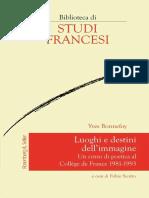 Yves Bonnefoy (a cura di Fabio Scotto) - Luoghi e destini dell'immagine (2017, Rosenberg&Sellier)