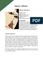 RESEÑA_ Antígona, Sófocles