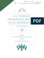 4.1 tecnicas y herramientas