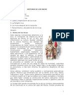 Historia de Los Incas - Fernando Montesinos