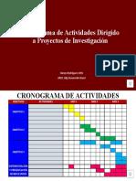 Cronograma de Actividades Dirigido a Proyectos de Investigación