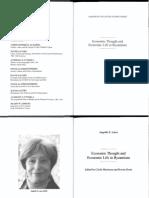 Laiou 2013, Economic Thought and Economic Life in Byzantium