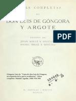 Góngora - Carta en respuesta