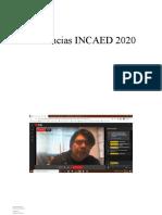 Asistencias INCAED 2020