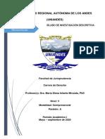 Silabo Investigación Descriptiva Derecho V SEMIPRESENCIAL