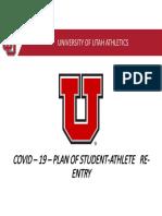 Utah Athletics Presentation_Phased Reopening of Facilities_May2020