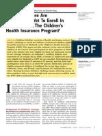 October 2010 Urban Institute Report on Uninsured Kids