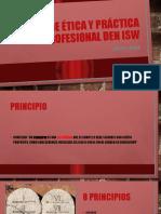 Código de ética y práctica profesional den ISW