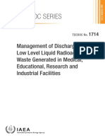 Management of Discharge of low level medical liquid radioactive