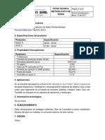 FICHA TECNICA METASILICATO DE SODIO PENTAHIDRATADO