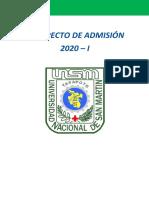 PROPECTO DE ADMISIÓN - 2020-I