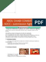 Abou Dhabi Combat Club Reglement Traduit