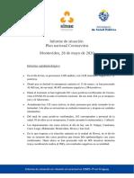Informe de situación sobre coronavirus COVID-19 en Uruguay (28 05 2020)