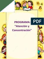 programa de ATENCION Y CONCENTRACION