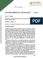 Sociologia Medioambiental Catton & Dunlap