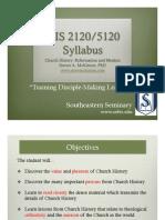 Mckinion_Church History 2 Syllabus