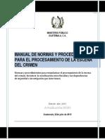 GUATEMALA Manual NP Escena Crimen