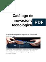 Catálogo de innovaciones tecnológicas